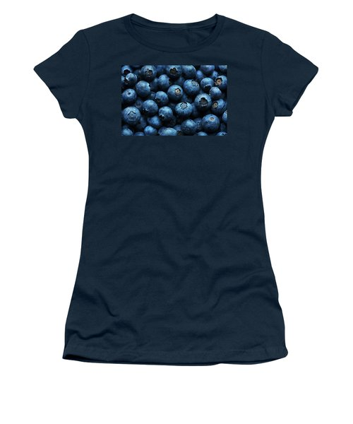 Blueberries Background Close-up Women's T-Shirt