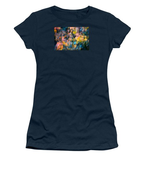 Blurred Leaf Abstract 2 Women's T-Shirt (Athletic Fit)