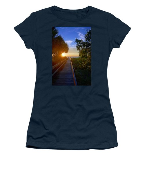 Sunset At The End Of The Boardwalk Women's T-Shirt
