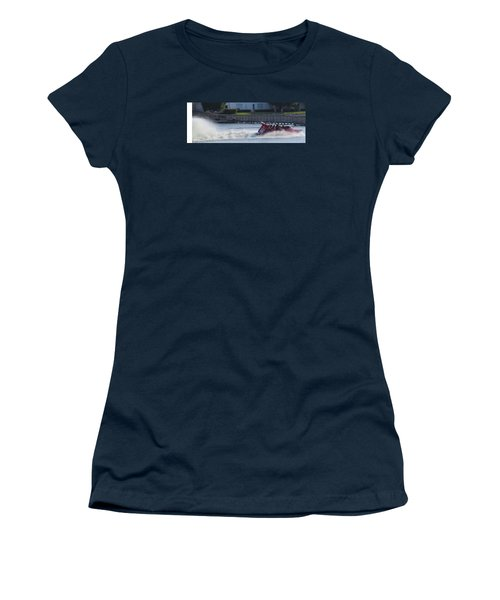 Boat On The Water Women's T-Shirt (Junior Cut) by Aaron Martens