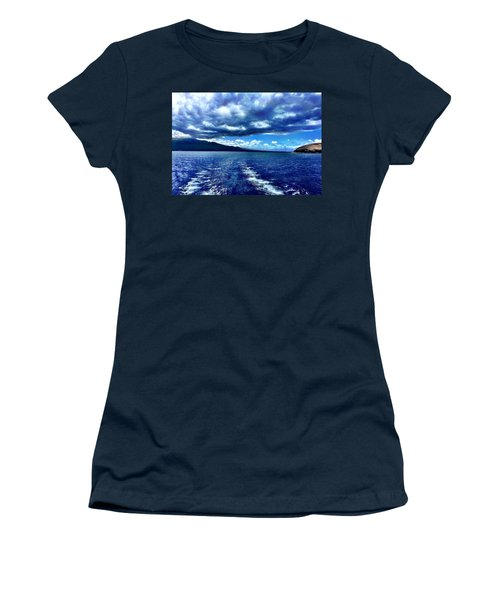 Women's T-Shirt (Junior Cut) featuring the photograph Boat View by Michael Albright