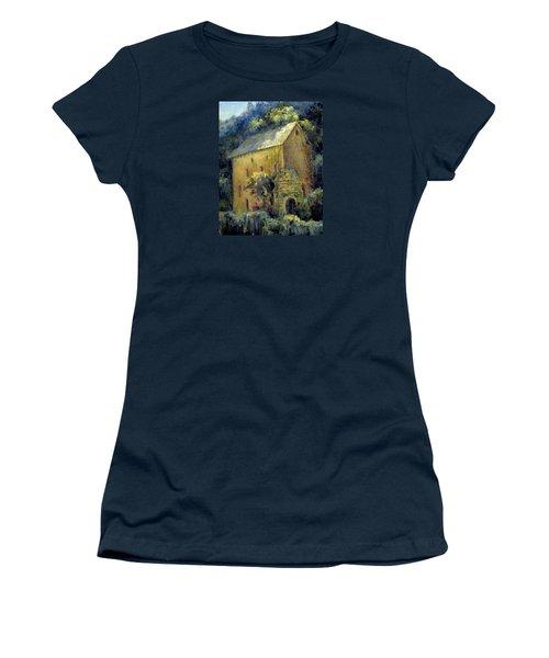 Bordeaux River Mill Women's T-Shirt (Junior Cut) by Jill Musser
