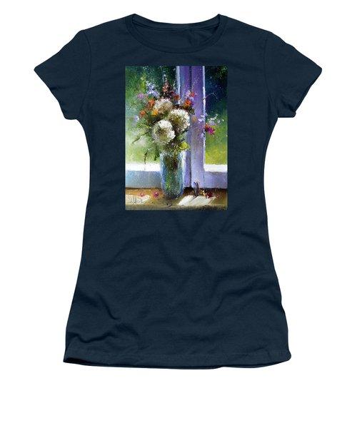 Bouquet At Window Women's T-Shirt