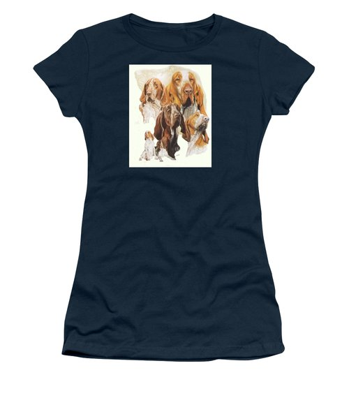 Bracco Italiano W/ghost Women's T-Shirt (Junior Cut) by Barbara Keith