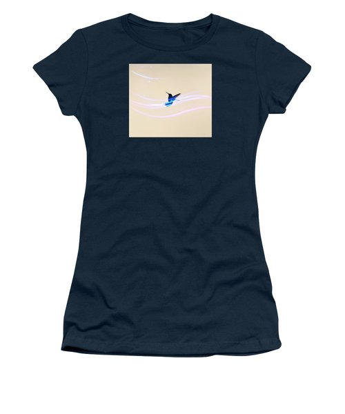 Women's T-Shirt (Junior Cut) featuring the photograph Breeze Wings by Debra     Vatalaro