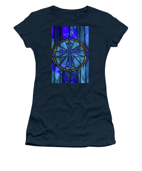 Women's T-Shirt (Junior Cut) featuring the photograph Brillant Blue by Rowana Ray