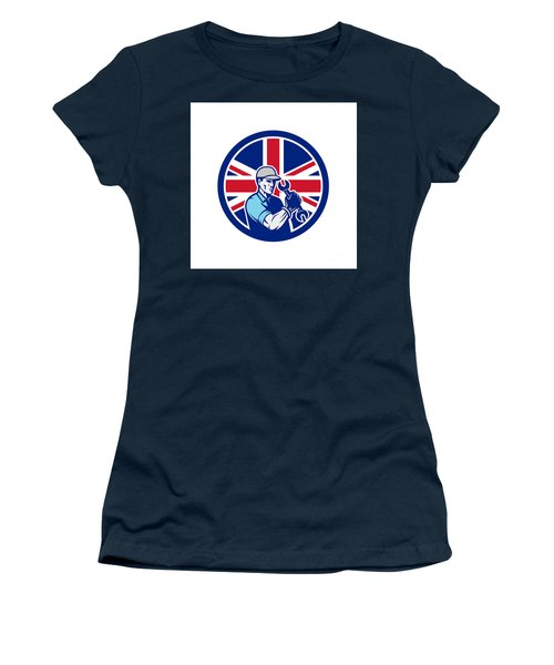 British Auto Mechanic Union Jack Flag Icon Women's T-Shirt