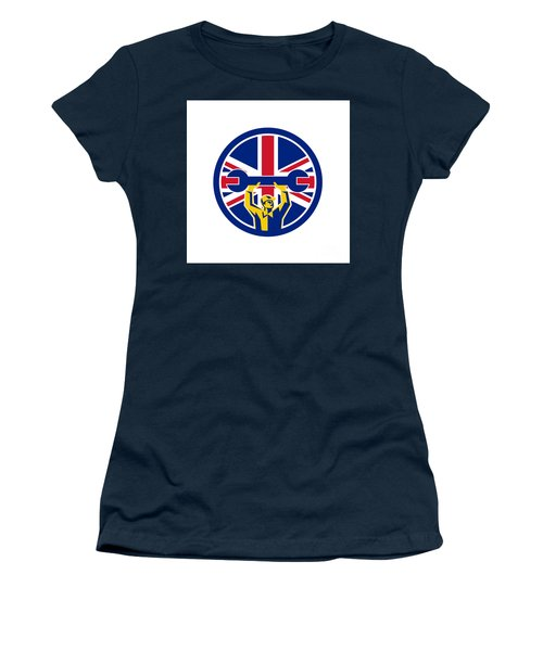 British Mechanic Union Jack Flag Icon Women's T-Shirt