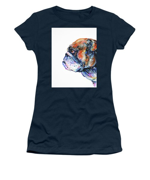 Bulldog Women's T-Shirt (Junior Cut) by Zaira Dzhaubaeva