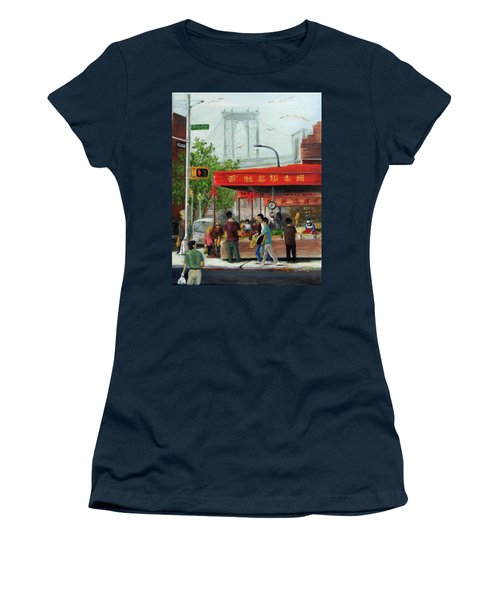 Busy Corner Women's T-Shirt (Athletic Fit)