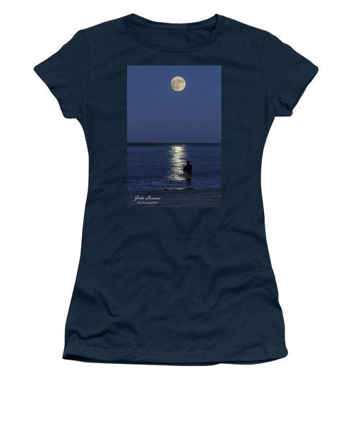 By The Light Of The Supermoon Women's T-Shirt (Junior Cut) by John Loreaux