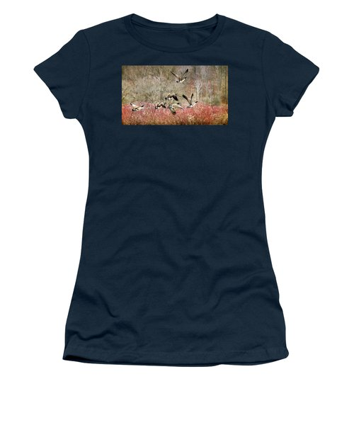 Canada Geese In Flight Women's T-Shirt (Athletic Fit)