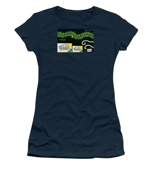 Women's T-Shirt (Junior Cut) featuring the digital art Cancer by The Art of Alice Terrill