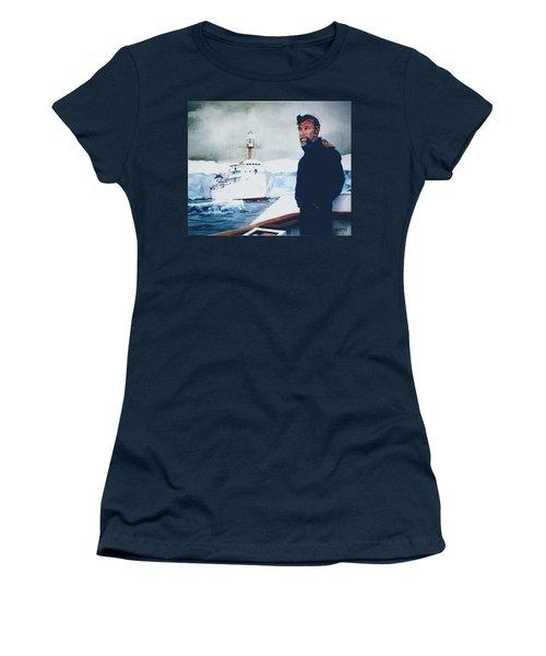 Capt Derek Law Women's T-Shirt (Junior Cut) by Tim Johnson
