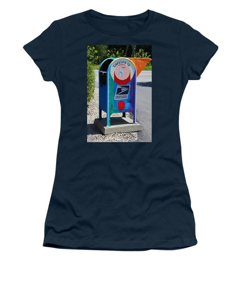 Women's T-Shirt (Athletic Fit) featuring the photograph Captiva Island Mailbox- Vertical by Michiale Schneider