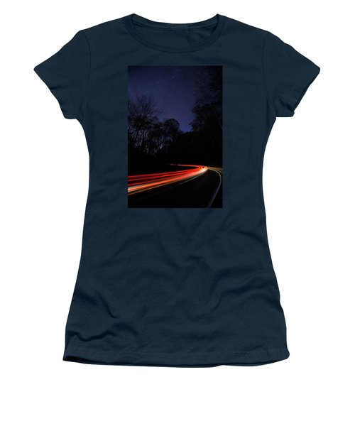 Car Trails Women's T-Shirt (Athletic Fit)