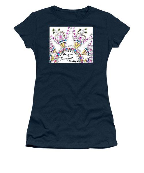 Caregiver Crown Of Hearts Women's T-Shirt