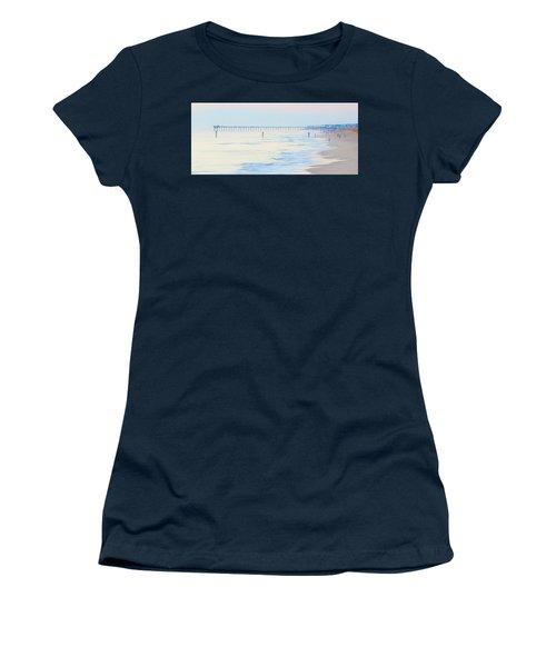 Carolina Beach Thanksgiving Day Women's T-Shirt (Junior Cut) by Glenn Gemmell