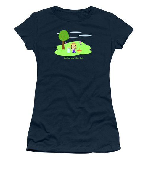 Cathy And The Cat With Apples Women's T-Shirt