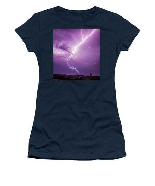Chasing Nebraska Lightning 018 Women's T-Shirt