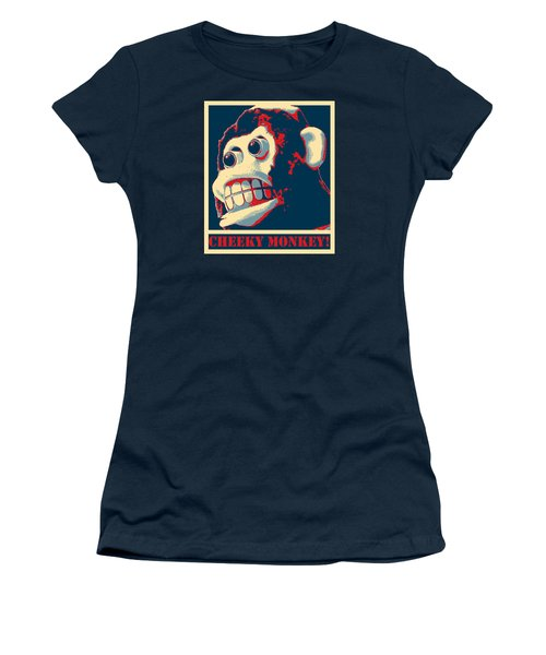 Women's T-Shirt (Junior Cut) featuring the photograph Cheeky Monkey by Richard Reeve