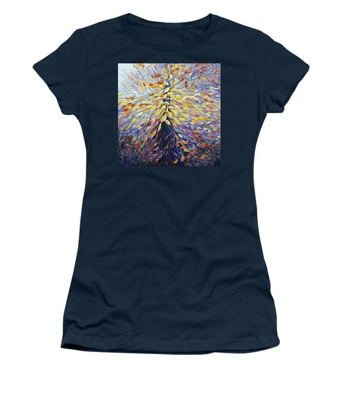 Women's T-Shirt (Junior Cut) featuring the painting Chi Of The Mighty Tree by Joanne Smoley