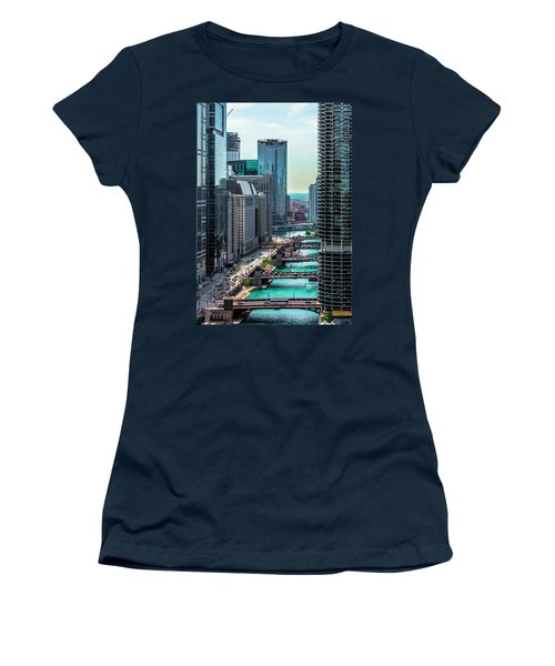 Chicago River From Londonhouse Chicago Dsc2290 Women's T-Shirt (Junior Cut) by Raymond Kunst