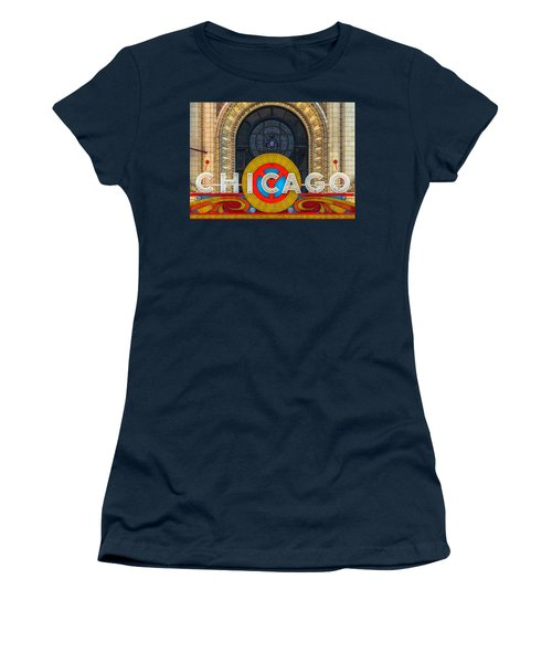 Chicago Theatre Sign Dsc2176 Women's T-Shirt (Athletic Fit)