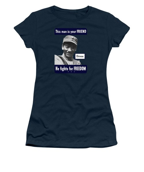 Chinese - This Man Is Your Friend - Ww2 Women's T-Shirt
