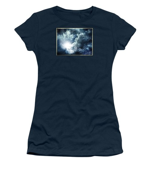 Women's T-Shirt (Junior Cut) featuring the photograph Chink Of Light - Spiraglio Di Luce by Zedi