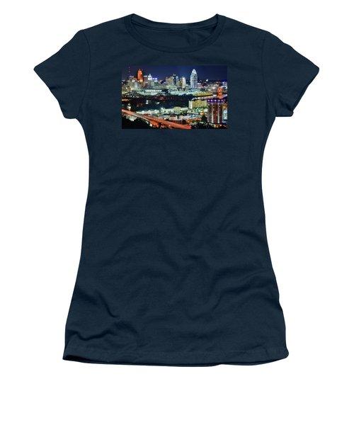 Cincinnati And Covington Collide Women's T-Shirt (Athletic Fit)