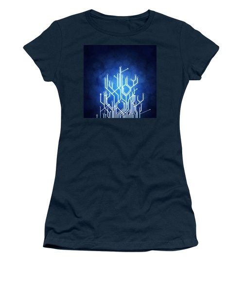 Circuit Board Technology Women's T-Shirt (Athletic Fit)