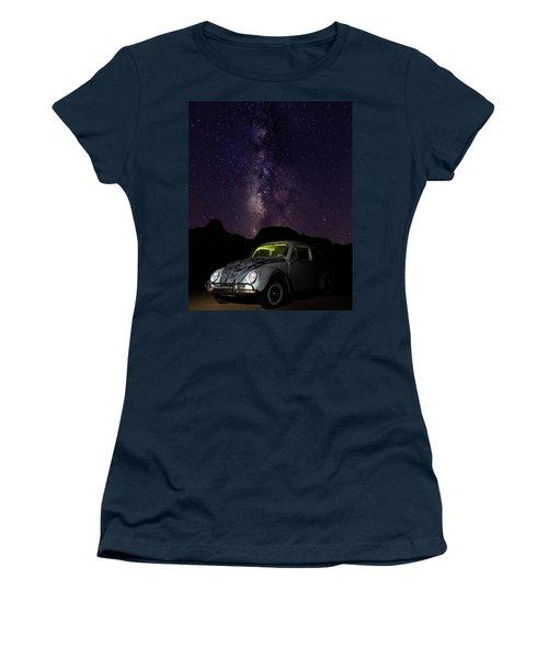 Classic Vw Bug Under The Milky Way Women's T-Shirt