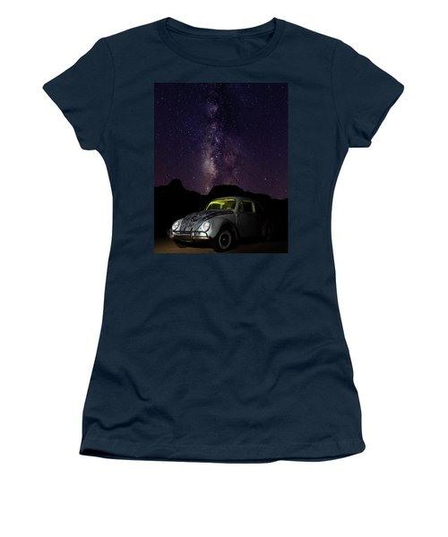 Classic Vw Bug Under The Milky Way Women's T-Shirt