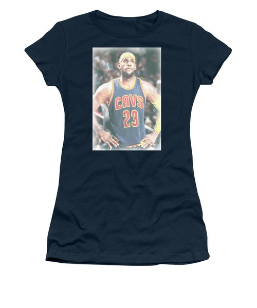 Cleveland Cavaliers Lebron James 5 Women's T-Shirt (Athletic Fit)