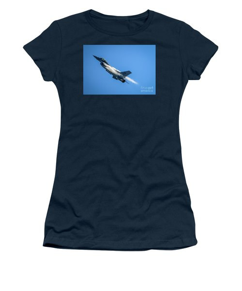 Women's T-Shirt featuring the photograph Climbing Falcon by Tom Claud