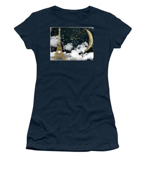 Cloud Cities Paris Women's T-Shirt (Athletic Fit)