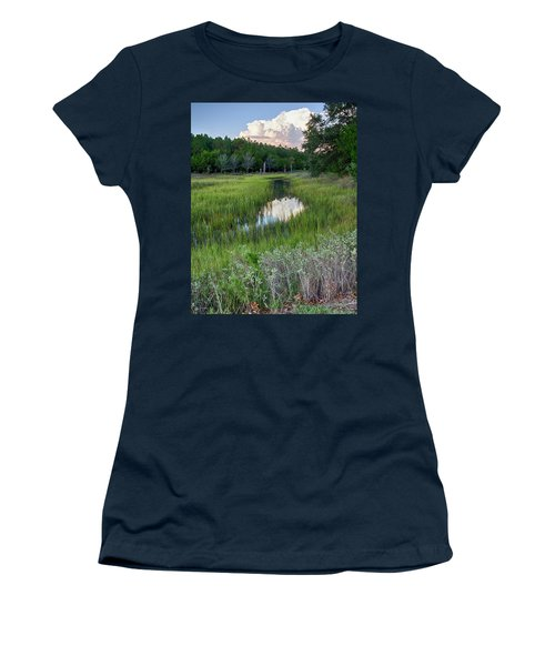 Women's T-Shirt (Junior Cut) featuring the photograph Cloud Over Marsh by Patricia Schaefer