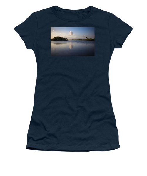 Cloud Reflection Women's T-Shirt (Athletic Fit)
