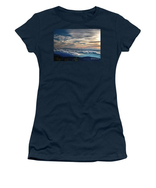 Women's T-Shirt (Junior Cut) featuring the photograph Clouds Over The Smoky's by Douglas Stucky