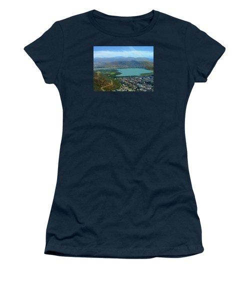 Cochabamba Lake Women's T-Shirt (Junior Cut) by Lew Davis