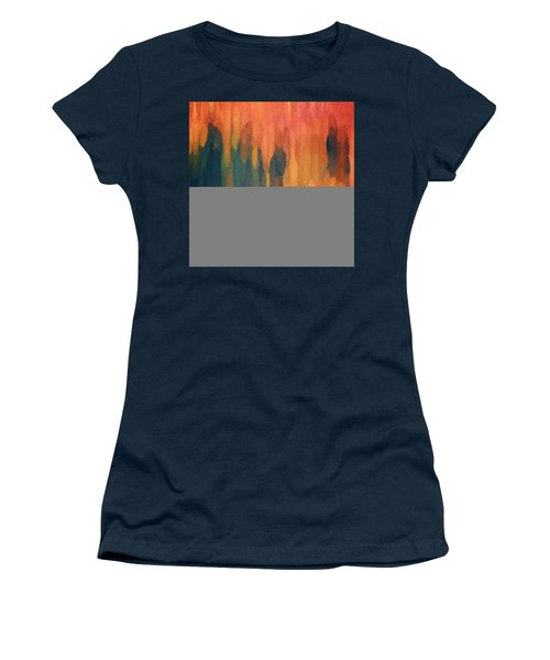 Women's T-Shirt featuring the digital art Color Abstraction L Sq by David Gordon