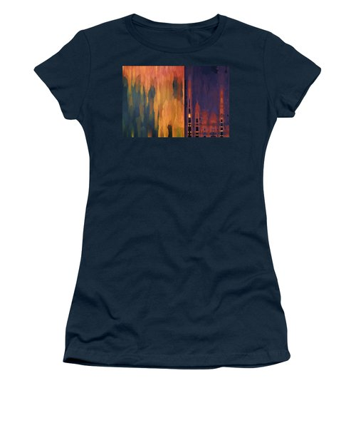 Women's T-Shirt featuring the digital art Color Abstraction Liv by David Gordon