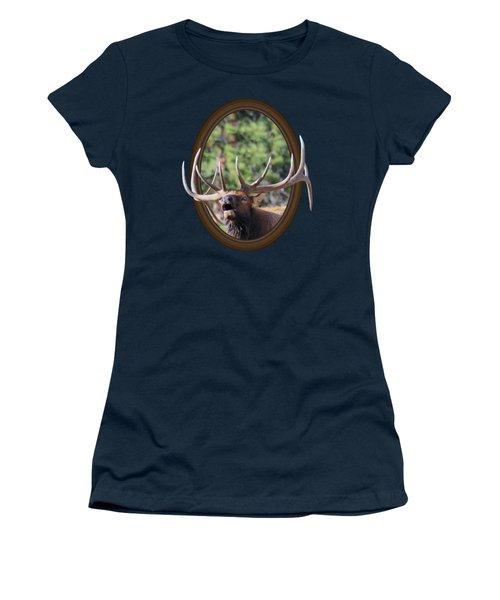 Women's T-Shirt (Junior Cut) featuring the photograph Colorado Bull Elk by Shane Bechler