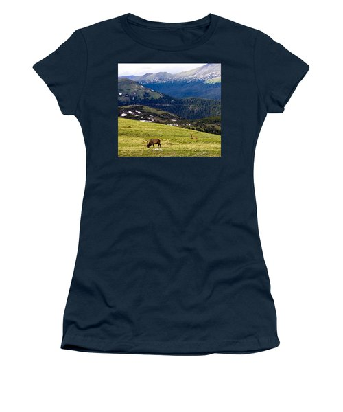 Colorado Elk Women's T-Shirt (Junior Cut) by Marilyn Hunt