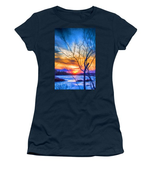 Colorful Cold Sunset Women's T-Shirt
