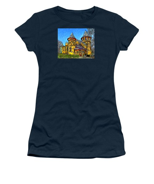 Colorful Curwood Castle Women's T-Shirt (Athletic Fit)
