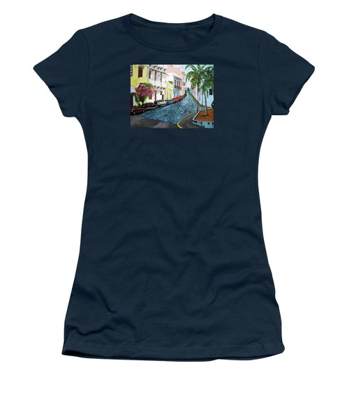 Colorful Old San Juan Women's T-Shirt (Athletic Fit)