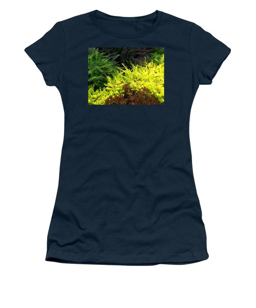 Women's T-Shirt (Athletic Fit) featuring the photograph Colorful Summer Foliage by Will Borden
