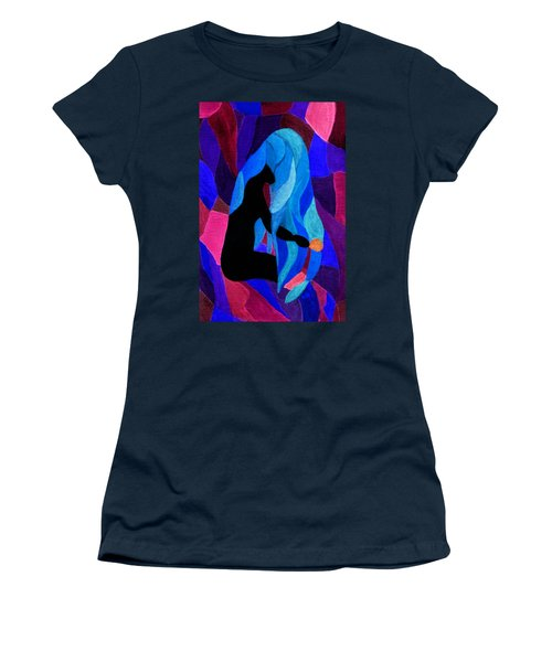 Combing The Waves Dark Women's T-Shirt (Athletic Fit)